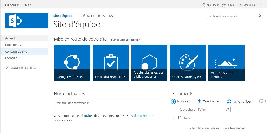Paramétrage Internet Explorer pour SharePoint