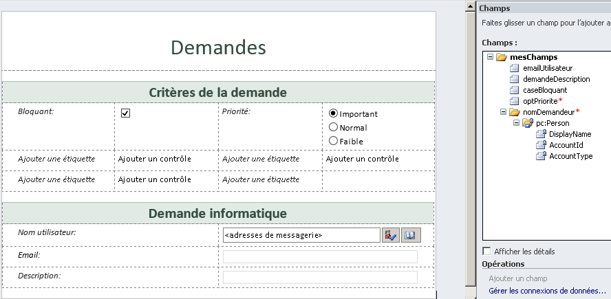 Formulaires InfoPath SharePoint Online