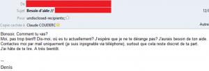 Escroquerie par e-mail