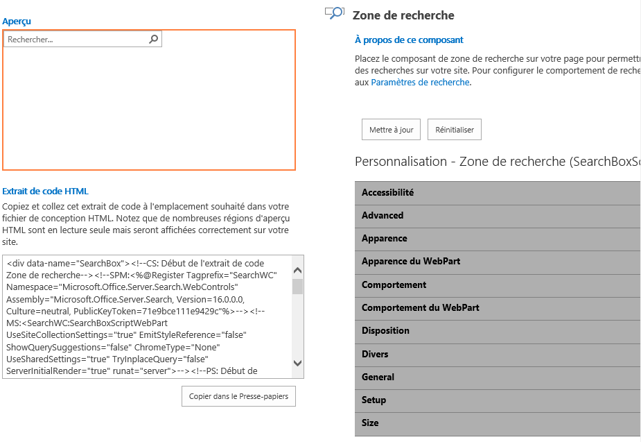 Designer un site SharePoint 2016