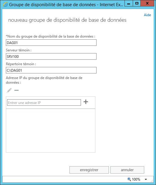 DAG Exchange Server 2013