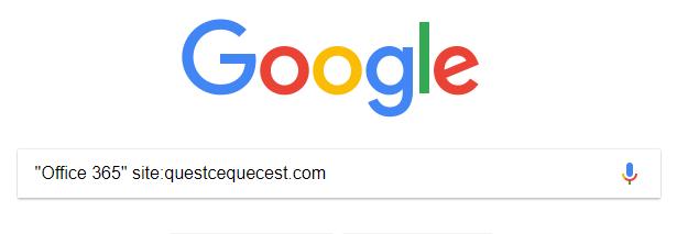 Syntaxe Google pour un site web